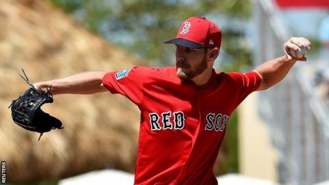 Boston Red Sox pitcher Chris Sale