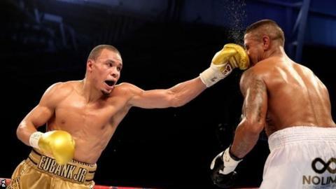Chris Eubank Jr lands a punch