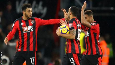 Huddersfield wallop Bournemouth for vital victory in Premier League
