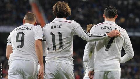 Benzema, Bale, Ronaldo