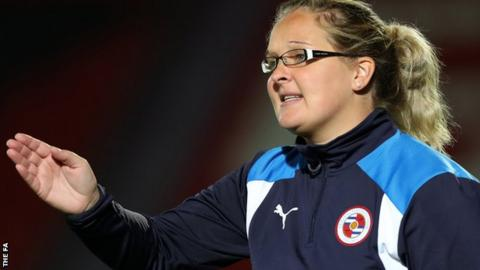 Reading women manager Kelly Chambers