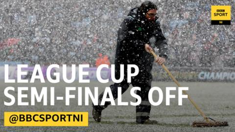 The NI League Cup semi-finals will now take place in January