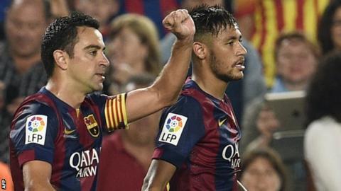 Xavi and Neymar