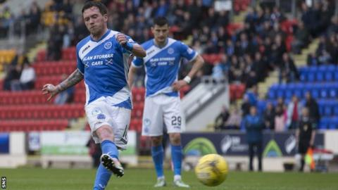 Danny Swanson scores for St Johnstone against Partick Thistle