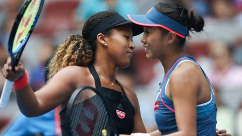 Naomi Osaka beats home favourite Zhang Shuai at China Open