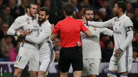 Gareth Bale (far left)