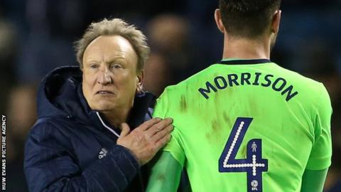 Neil Warnock (left) with Sean Morrison