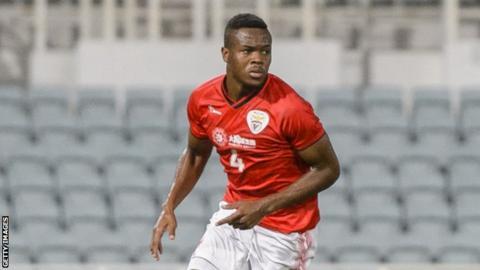 Gabon defender Gilchrist Nguema