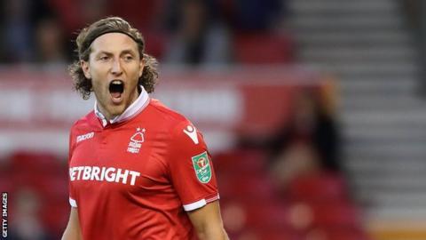 Nottingham Forest defender Michael Hefele
