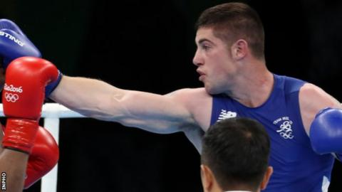 Joe Ward made the decider after a semi-final win over Uzbekistan's Bektemir Melikuziev