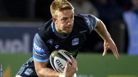 Kyle Steyn scored Glasgow's third try just minutes after coming off the bench