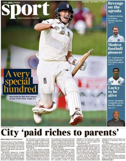 Times sport page