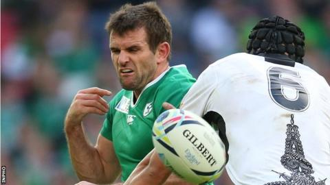 Jared Payne played in Ireland's first three Rugby World Cup games against Canada, Romania and Italy