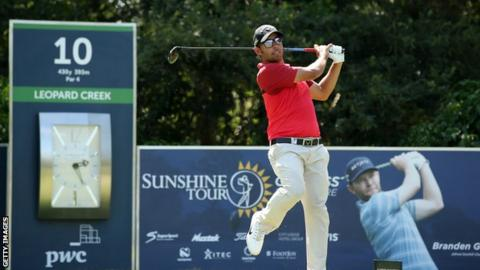 Pablo Larrazabal in the final round at Leopard Creek