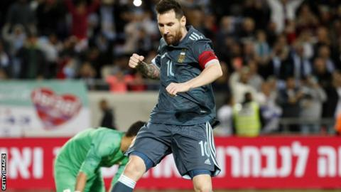 Lionel Messi and Sergio Aguero score for Argentina in draw