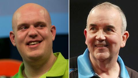Michael van Gerwen and Phil Taylor