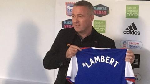 New Ipswich manager Paul Lambert