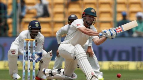 Australian batsman Shaun Marsh in action against India