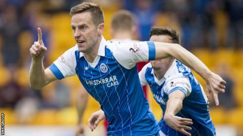 St Johnstone forward Steven MacLean