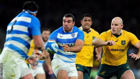 Argentina captain Agustin Creevy in action against Australia