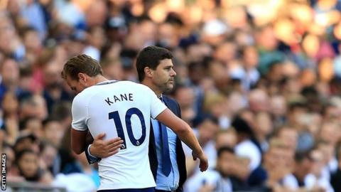Mauricio Pochettino and Harry Kane