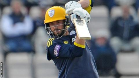 Hampshire's James Vince bats against Lancashire in the One-Day Cup