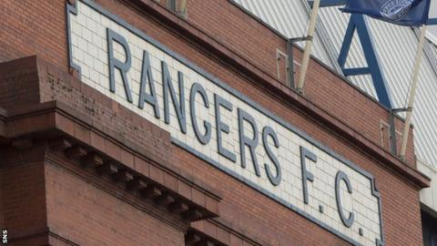 An outside view of Rangers' Ibrox Stadium