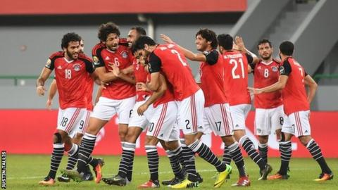 Egypt players are enjoying the tournament in Gabon
