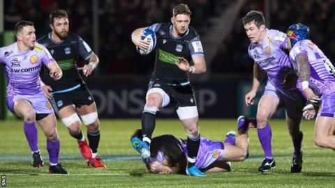 Glasgow's Champions Cup quarter-final hopes are in the balance after the 31-31 draw with Exeter