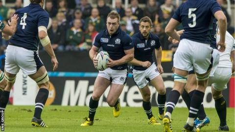 Stuart Hogg is the only player to start all of Scotland's matches at the World Cup