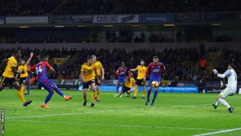 Jordan Ayew puts Crystal Palace ahead