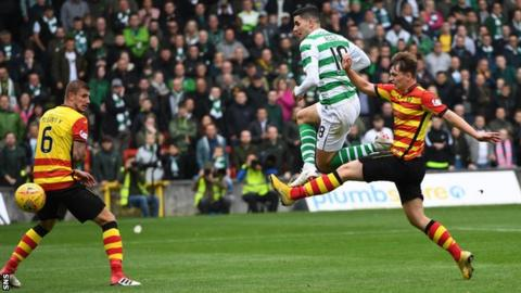 Celtic beat Thistle at Firhill in the last 16 stage of the League Cup last season