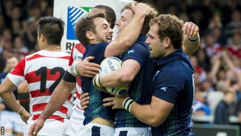 Scotland scored five second half tries against Japan