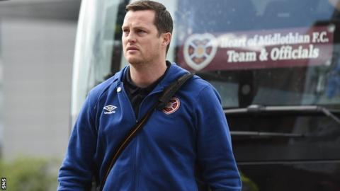 Hearts interim head coach Jon Daly