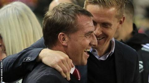 Brendan Rodgers and Garry Monk