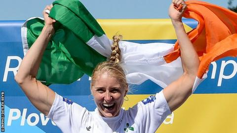 Latvian-born Sanita Puspure clinched Ireland's second gold medal at the World Rowing Championships on Sunday