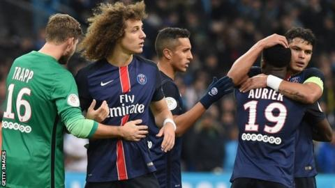 Paris St-Germain celebrate
