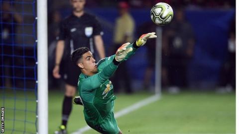 Manchester United goalkeeper Joel Pereira