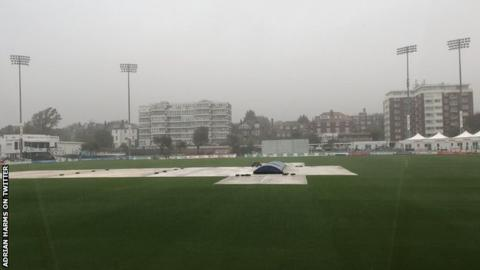 A wet scene at Hove