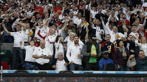 England fans at the 2015 Rugby World Cup