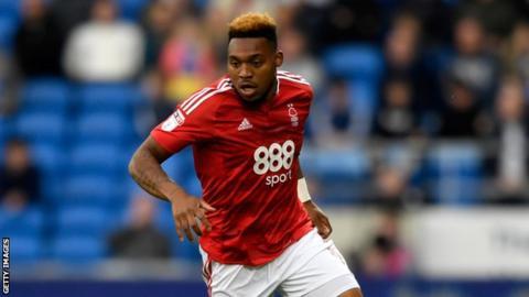 Nottingham Forest striker Britt Assombalonga