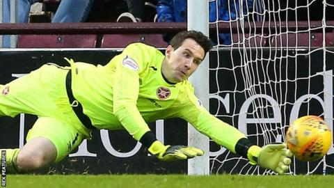 Jon McLaughlin playing for Hearts
