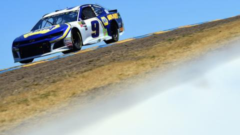 SONOMA, CA - JUNE 24: Chase Elliott, driver of the #9 NAPA Auto Parts Chevrolet, races during the Monster Energy NASCAR Cup Series Toyota/Save Mart 350 at Sonoma Raceway on June 24, 2018 in Sonoma, California. (Photo by Jared C. Tilton/Getty Images)