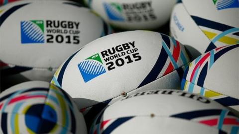 World Cup Rugby balls