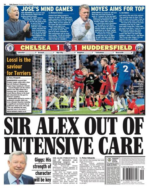 Thursday's Express back page