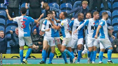 John Buckley had been on the pitch just three minutes before hitting Blackburn's winner.