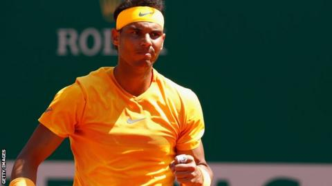 Nadal through to 14th straight Monte Carlo QF