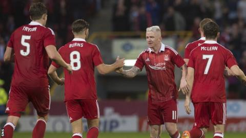 (from left) Ash Taylor, Wes Burns, Jonny Hayes and Kenny McLean