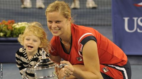 Kim Clijsters and daughter