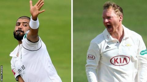 Jeetan Patel (left) and Gareth Batty